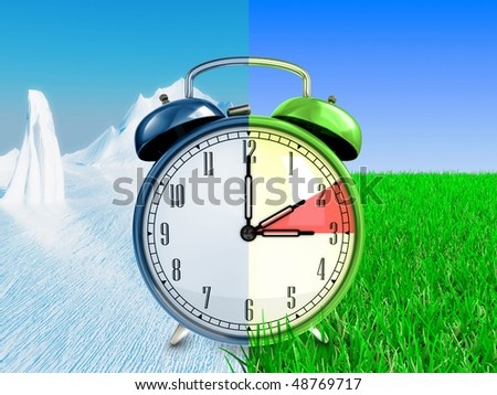 Daylight saving time concept - stock photo
