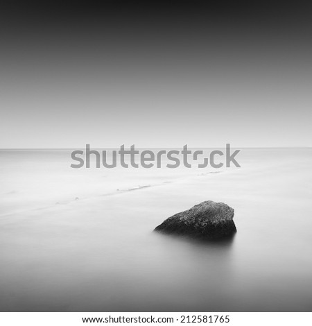 daytime long exposure / calm water / odessa, ukraine - stock photo