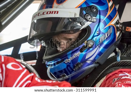 Daytona Beach, FL - Jan 22, 2015:  The Tudor United SportsCar Championship teams take to the track for a practice sessions for the Rolex 24 at Daytona International Speedway in Daytona Beach, FL.  - stock photo