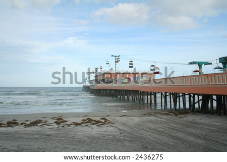 Daytona Beach Florida Boardwalk - stock photo