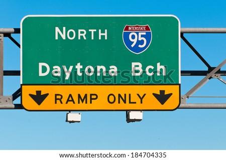 Daytona Beach Traffic Sign - stock photo