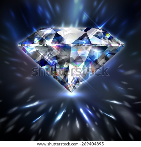 Dazzling shiny colorful diamond background   - raster version - stock photo