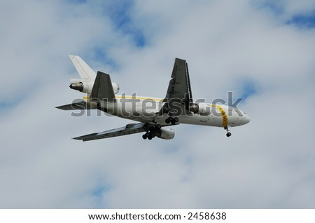 DC-10 heavy cargo jet - stock photo