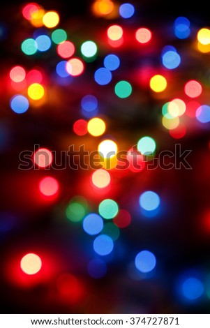 de focused abstract background of colored lights - stock photo