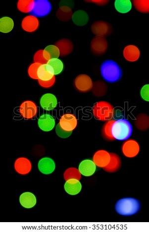De-focused colored lights - stock photo