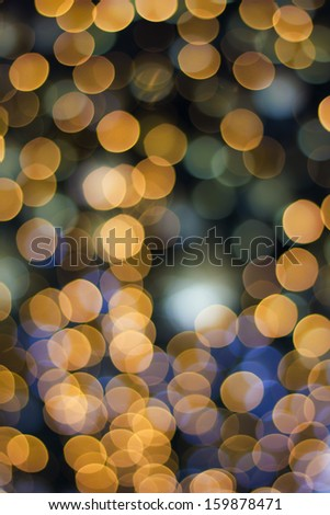 De focused gold abstract Christmas background - stock photo