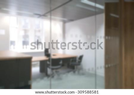 Defocused Office Background Board Room Rustic Stock Photo