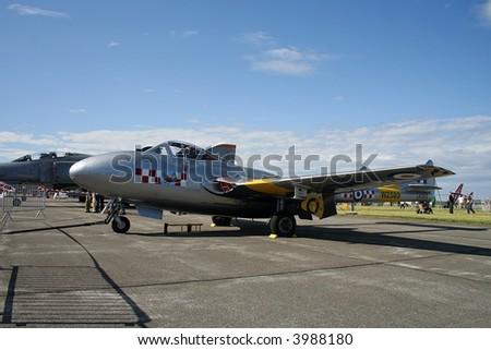 de Havilland DH 100 Vampire, British jet plane from 1945 - stock photo