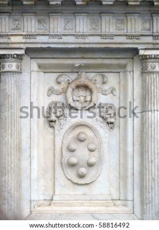 De Medici Coat of Arms, Florence, Italy - stock photo