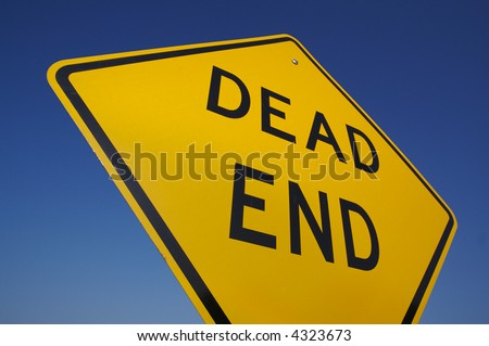 Dead End Traffic Sign WITH clipping path - add you own background. - stock photo