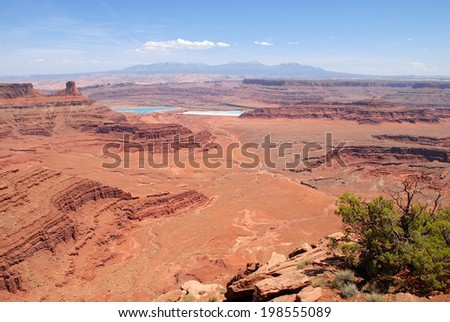Dead Horse Point Landscape in Utah USA - stock photo