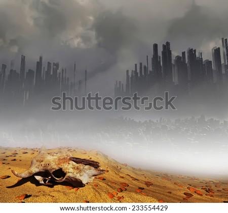 Dead land - stock photo