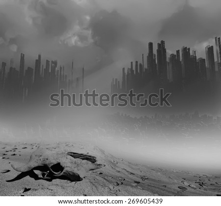Dead land - stock photo