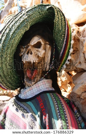 Dead Mexican bandit - stock photo