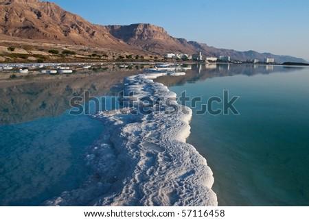 Dead sea and salt path - stock photo