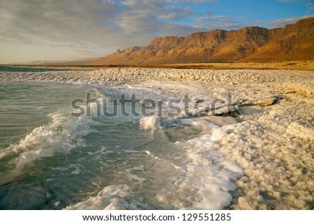 Dead Sea coastline. Israel - stock photo