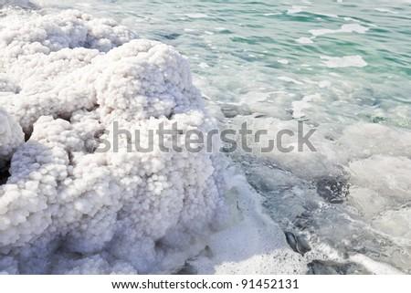 dead sea salt - stock photo