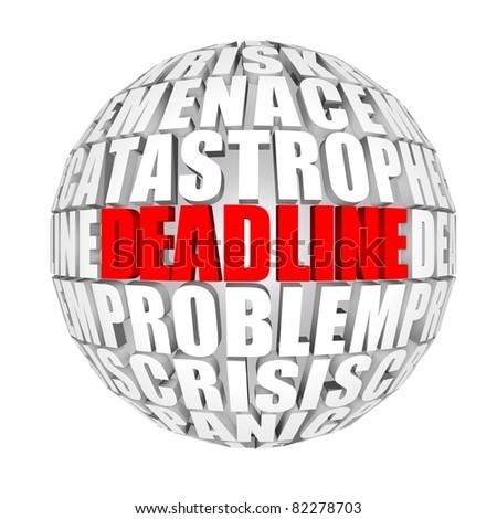 deadline - stock photo