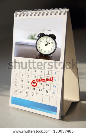 deadline calendar - stock photo