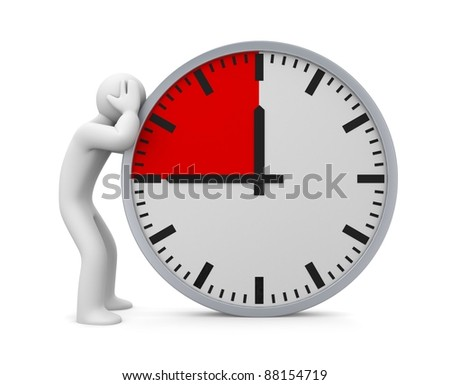 Deadline. Image contain clipping path - stock photo