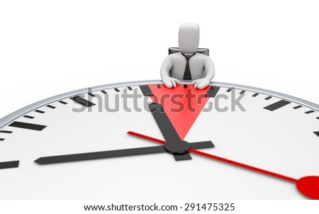 Deadline. Table in the form of clock - stock photo