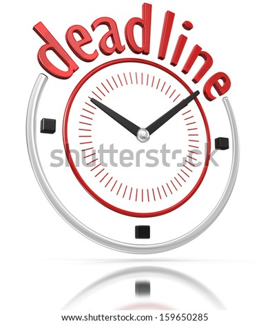 Deadline time  (clipping path included)