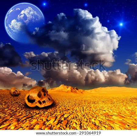 Deadly desert - stock photo