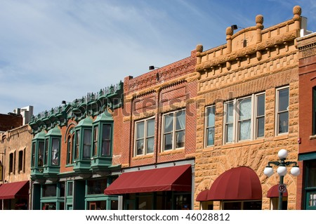 Deadwood, South Dakota - National historical landmark - stock photo