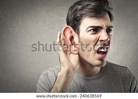 Deaf man  - stock photo
