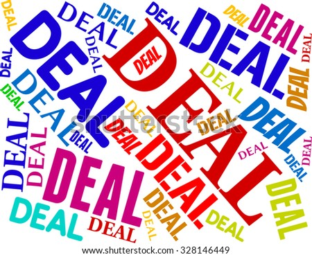 Deal Word Indicating Best Deals And Trade