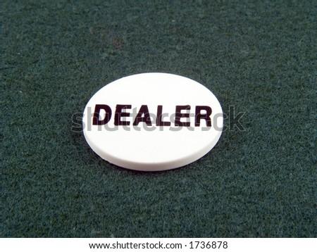 Dealer Chip - stock photo