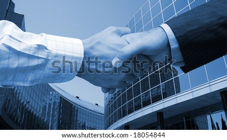 Dealing in the new financial city - stock photo