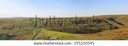 Deanhead Reservoir,  Scammonden, West Yorkshire, England, UK - stock photo