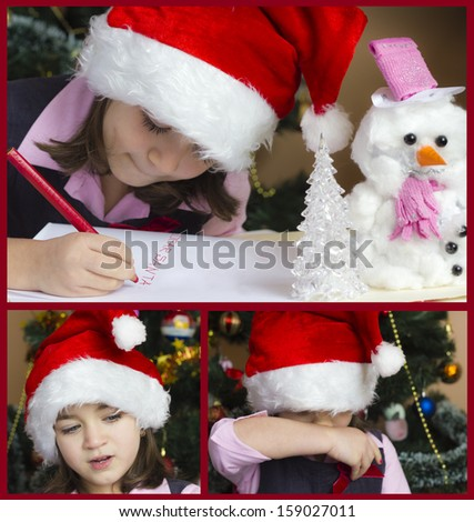 Dear Santa ...Collage - stock photo