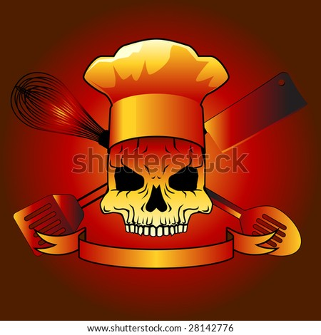 Death chef- raster - stock photo