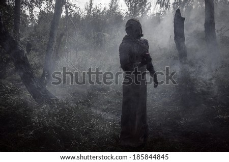 death in smoke - stock photo