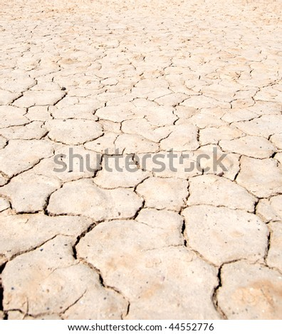death valley - california - dry soil texture - stock photo