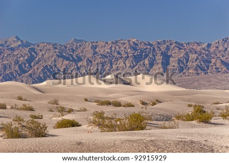 Death Valley Dunes - stock photo