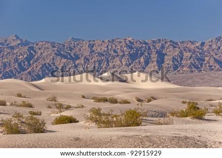 Death Valley Dunes - stock photo