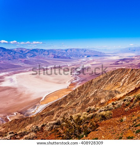 Death Valley from Dantes View, Death Valley National Park, California, CA, USA - stock photo