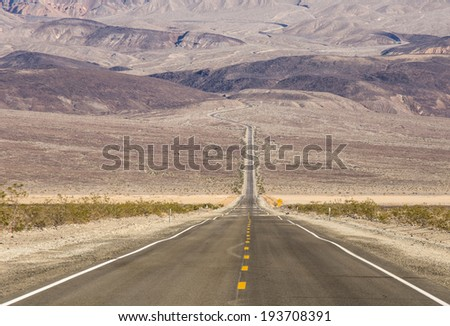 Death Valley landscape,California - stock photo