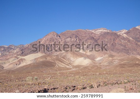 Death Valley National Park California - stock photo