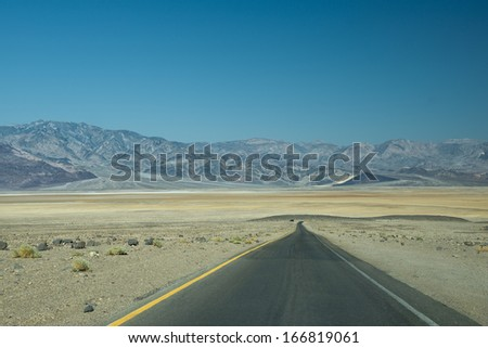 Death Valley Route at artist point - stock photo