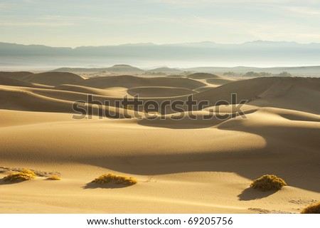 Death Valley Sand Dunes. - stock photo
