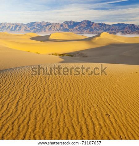Death Valley Sand Dunes - stock photo