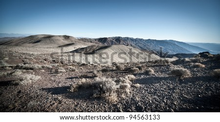 Death Valley view from the Dantes point - stock photo