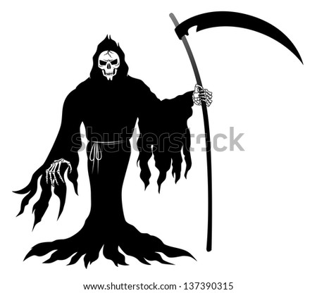 Death which brandishes a sickle - stock photo
