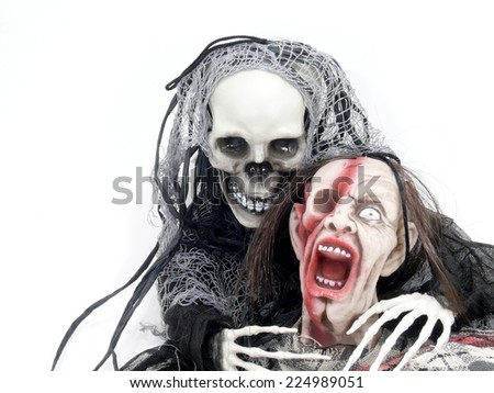 death with zombie - stock photo