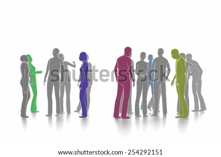 Debate and dialogue concept - stock photo