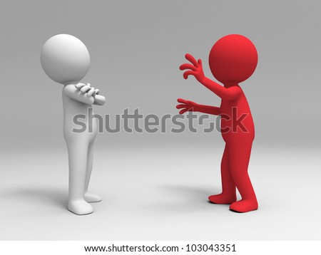 debate/Two men in the debate - stock photo